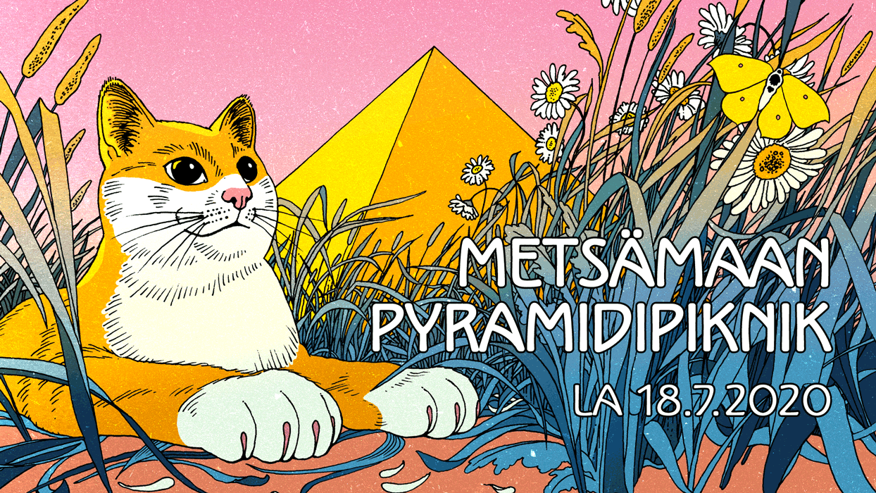 Illustration for Metsämaan pyramidipiknik 2020 summer festival / Drawing with digital colors